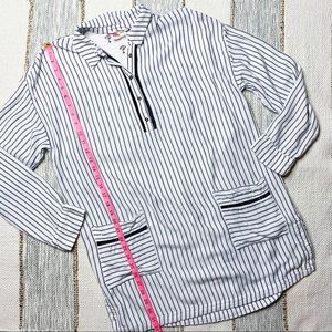 Anthropologie Tops - Anthropologie Lilka Striped Tunic Dress/Cover Up